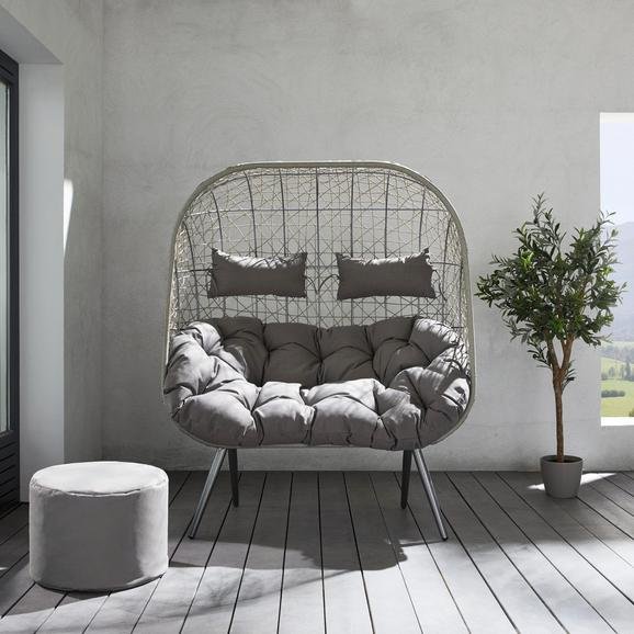XXL Relaxsessel Liana inkl. Auflage und Kissen - Grau, MODERN, Kunststoff/Textil (135/158/56cm) - MÖMAX modern living