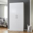 Kleiderschrank Basic - Weiß, MODERN, Holz/Metall (110/220/56cm) - Modern Living
