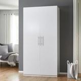 KLEIDERSCHRANK in Weiß 'Basic' - Weiß, MODERN, Holz/Metall (110/220/56cm) - Bessagi Home