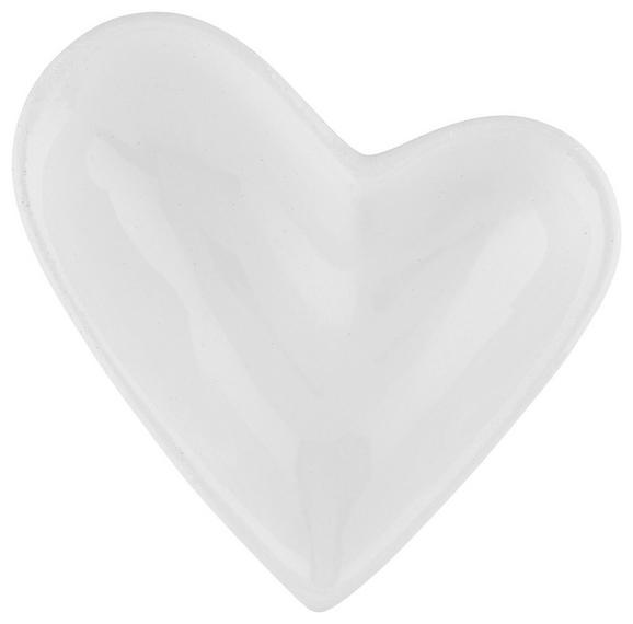 Okrasna Skleda Paula - bela, Romantika, keramika (9/7/2,5cm)