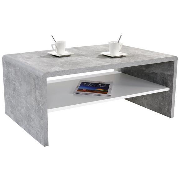 Klubska Mizica Cala Luna - siva/bela, Moderno, leseni material (100/40/59cm) - Mömax modern living