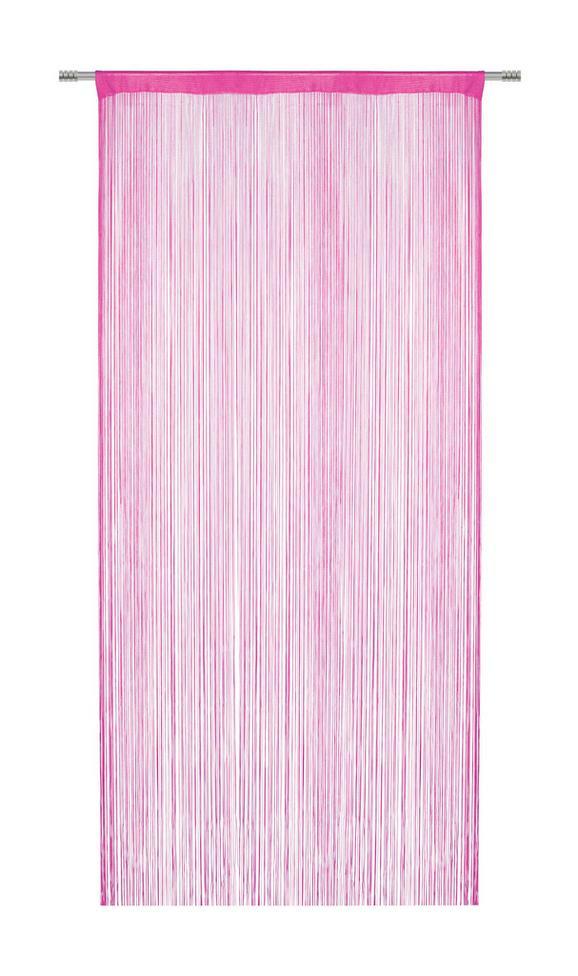 Zsinórfüggöny Franz - Pink, Textil (90/245cm) - Mömax modern living