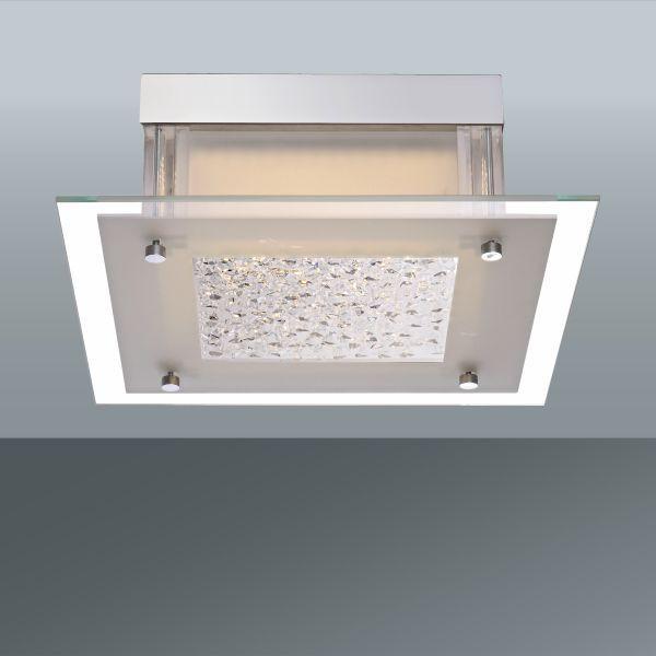 Mennyezeti Lámpa Magnus - modern, üveg/fém (28/28/10,4cm)