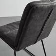 STUHL in dunkelgrau 'Kona' - Dunkelgrau/Schwarz, MODERN, Textil/Metall (48/90/65cm) - Bessagi Home