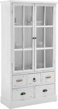 Vitrine Lewis Vintage - Weiß, MODERN, Glas/Holz (80/152/35cm) - Mömax modern living