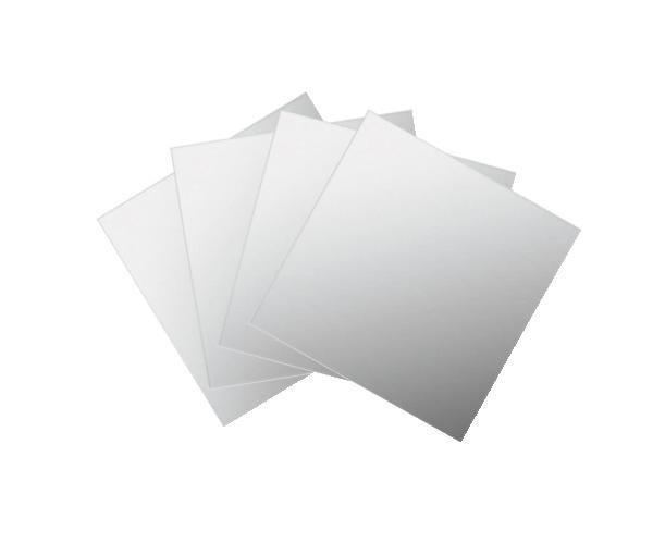 Spiegelfliesenset Tail in Silber - Silberfarben, Karton/Glas (15/15cm) - MÖMAX modern living