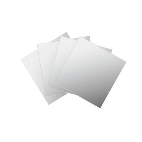 Spiegelfliesenset Tail Silberfarben - Silberfarben, Karton/Glas (15/15cm) - Mömax modern living