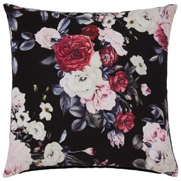 Okrasna Blazina Linda - črna/svetlo siva, Romantika, tekstil (45/45cm) - Mömax modern living