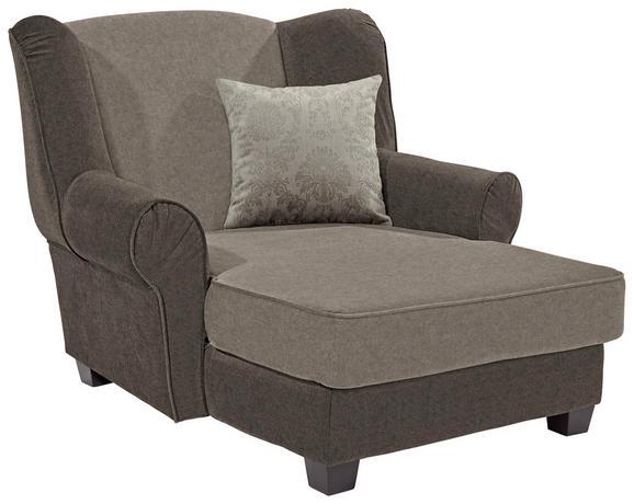 Fotelja Living - tamno smeđa/svijetlo smeđa, MODERN, drvo/tekstil (120/98/138cm)