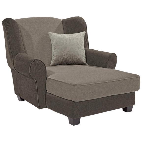 Fotelja Living - tamno smeđa/svijetlo smeđa, Romantik / Landhaus, drvo/tekstil (120/98/138cm) - Modern Living