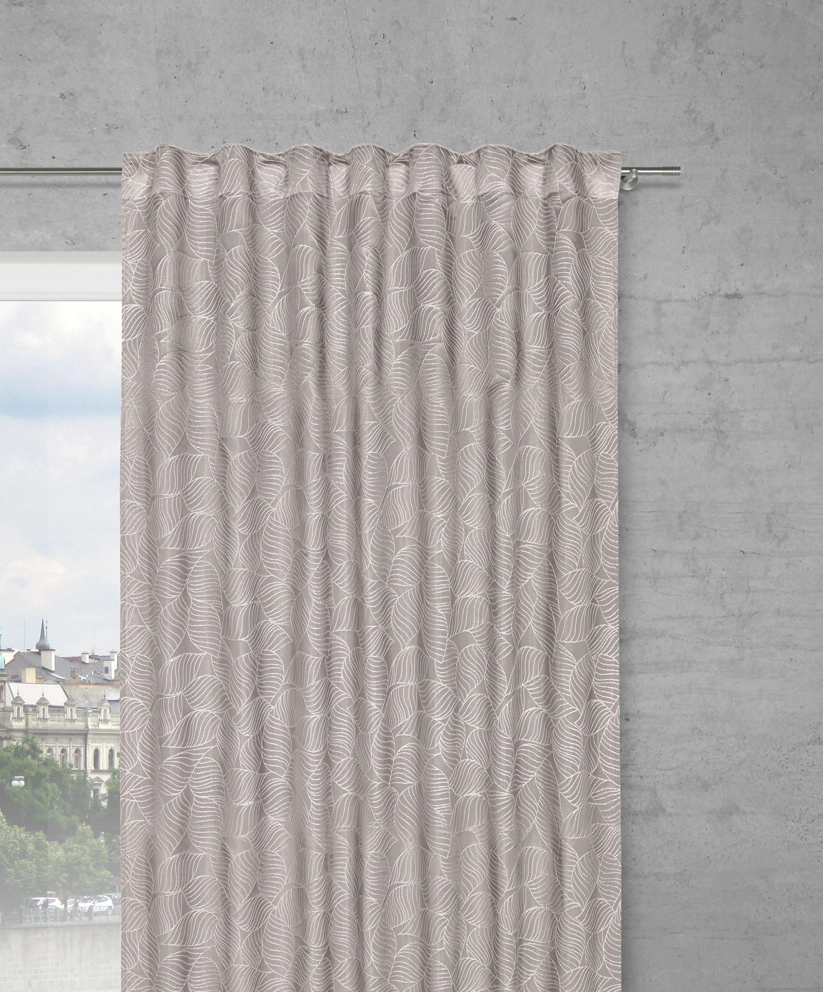 FERTIGVORHANG Ingrid, ca. 140x245cm - Grau, KONVENTIONELL, Textil (140/245cm) - premium living