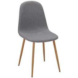 Stuhl Jessica   Grau, MODERN, Textil/Metall (43/95/51cm