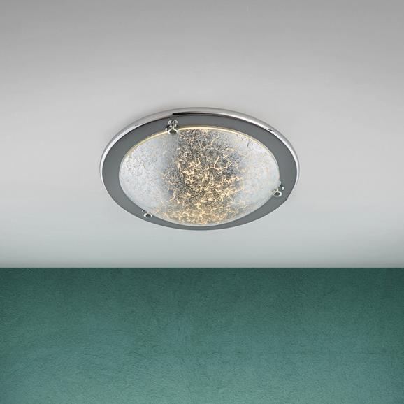 Deckenleuchte Emelle - Silberfarben, MODERN, Glas/Metall (30/8/cm) - Modern Living