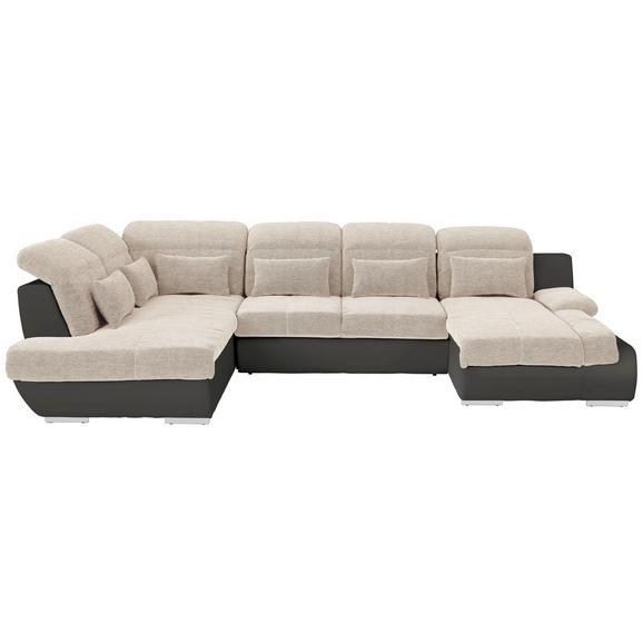 Sjedeća Garnitura Multi - tamno siva/bež, Modern, tekstil/metal (228/345/184cm) - Modern Living
