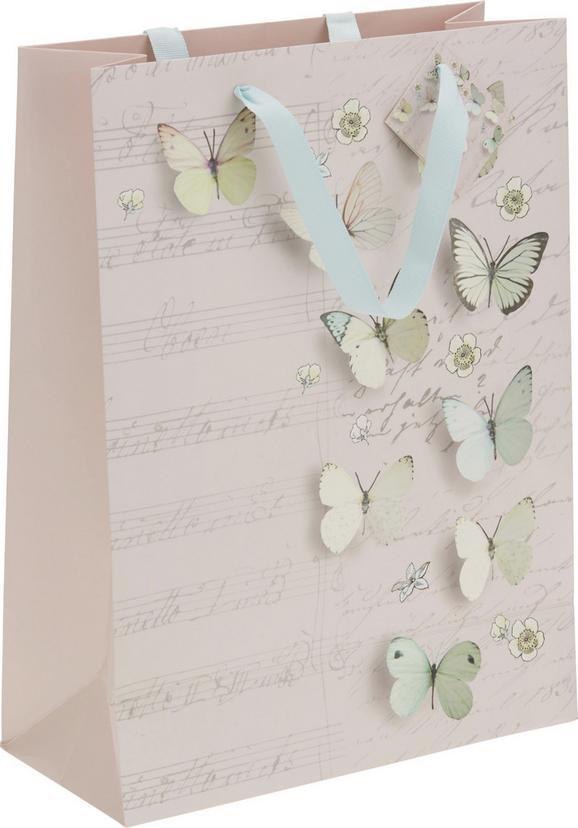 Geschenktasche Jana in Weiß/Rosa - Multicolor/Rosa, LIFESTYLE, Papier (25/33/11cm)