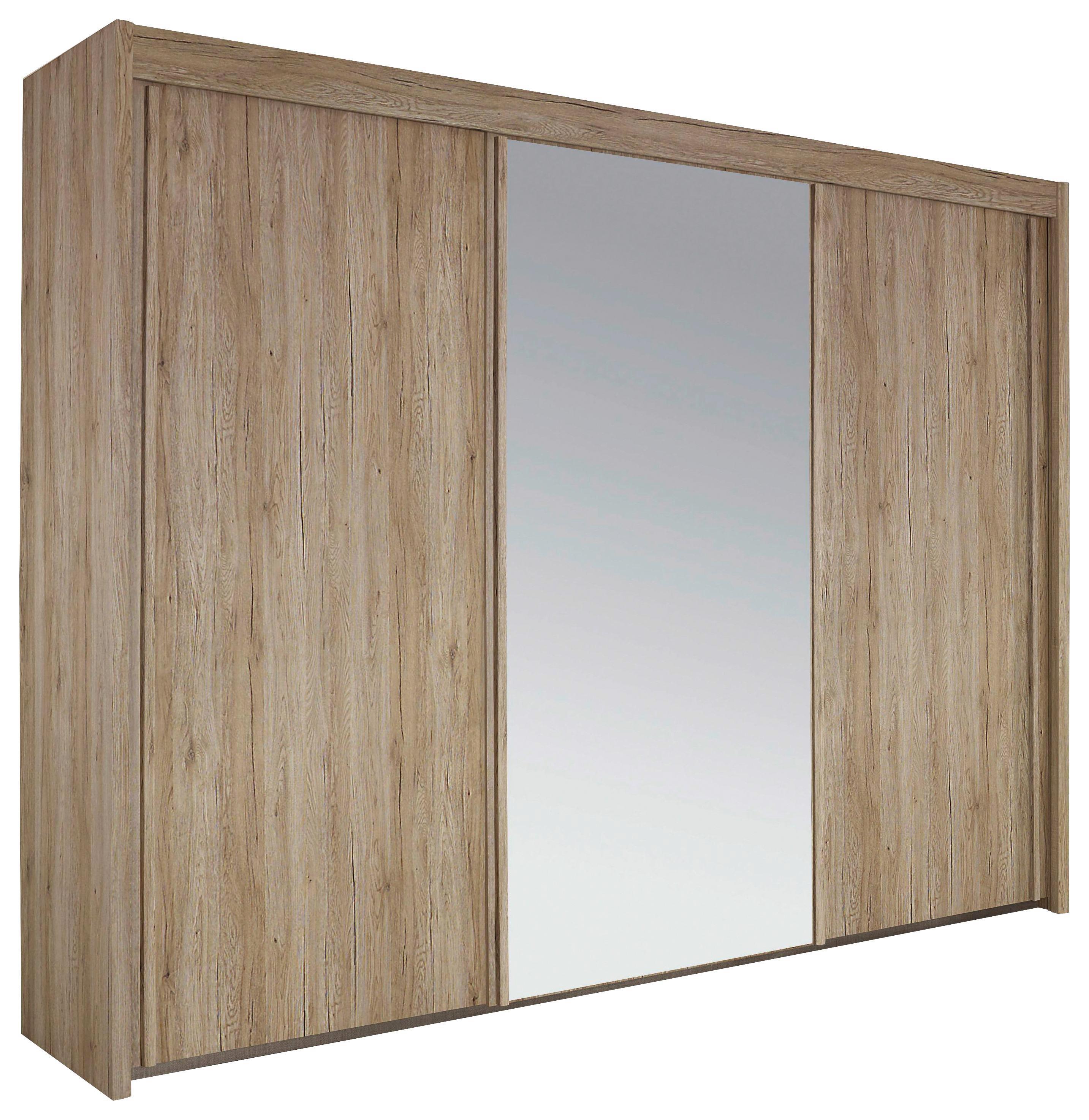 Tolóajtós Szekrény Imperial - wenge színű, konvencionális, üveg/faanyagok (280/223/65cm)