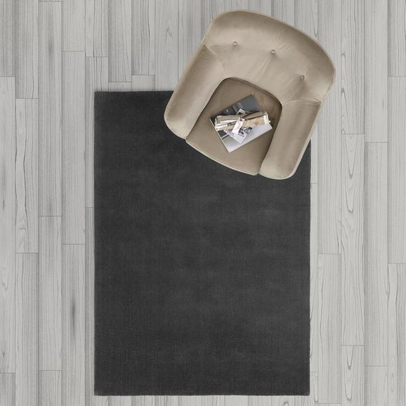 Teppich Carolin Handgewebt ca.140x200cm - Dunkelgrau, MODERN, Textil (140/200cm) - Mömax modern living