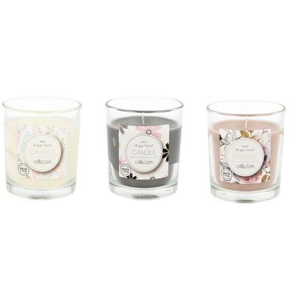 Kerze im Glas Mona in verschiedenen Farben - Rosa/Weiß, Glas (7,2/8,3cm) - Mömax modern living