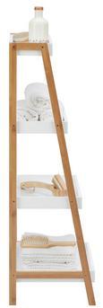Badezimmerregal Mirella - Naturfarben/Weiß, KONVENTIONELL, Holz (44/110/37cm) - Mömax modern living