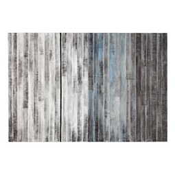 Bild Acryl ca. 120x80cm - Blau/Schwarz, Holz/Textil (120/80cm) - Premium Living
