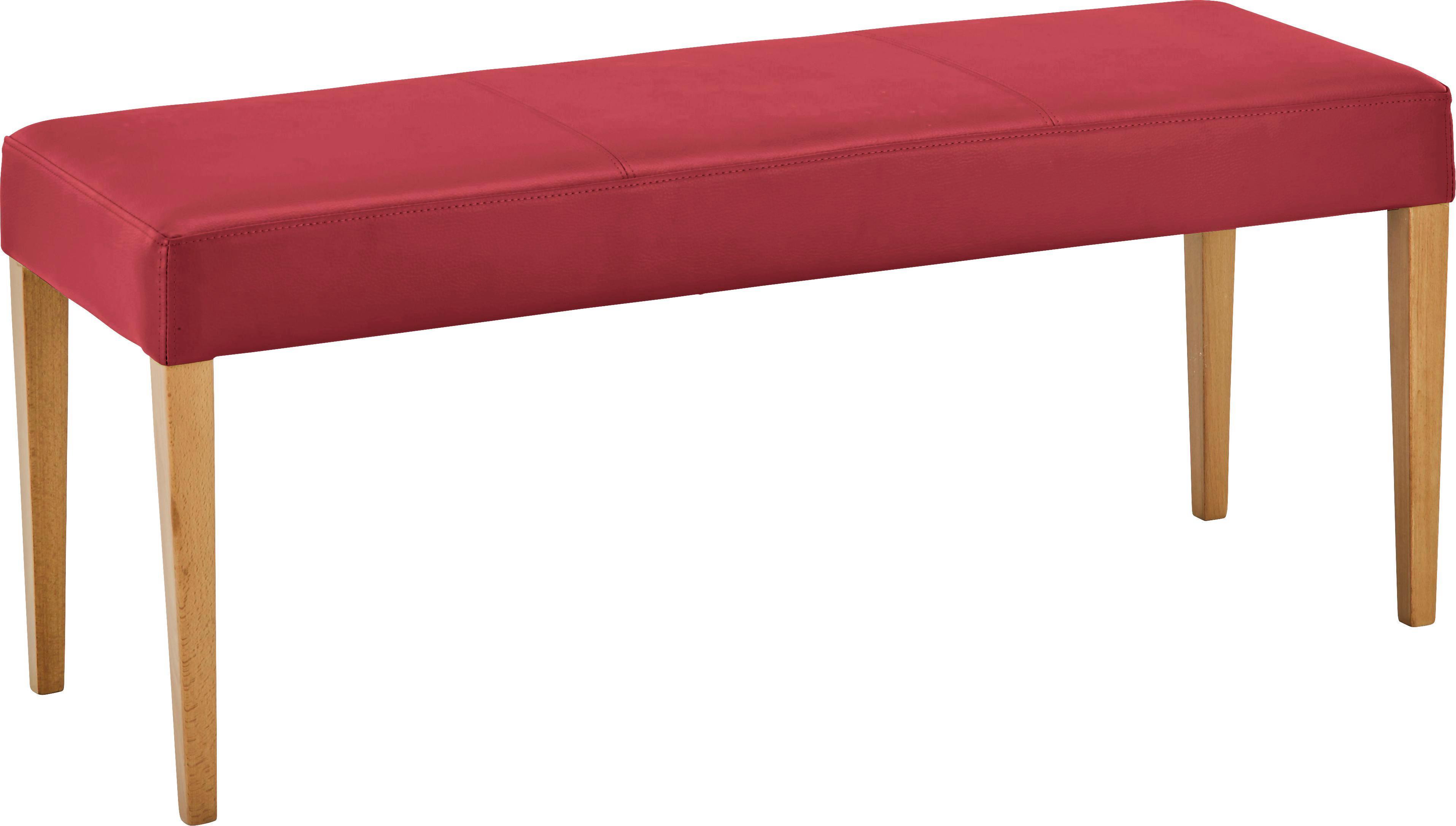 Sitzbank Rot Buche   Buchefarben/Dunkelrot, MODERN, Holz/Textil (120/