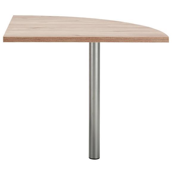 Eckverbindungsplatte Eichefarben - Eichefarben, MODERN, Holzwerkstoff/Kunststoff (80/73/80cm) - Premium Living