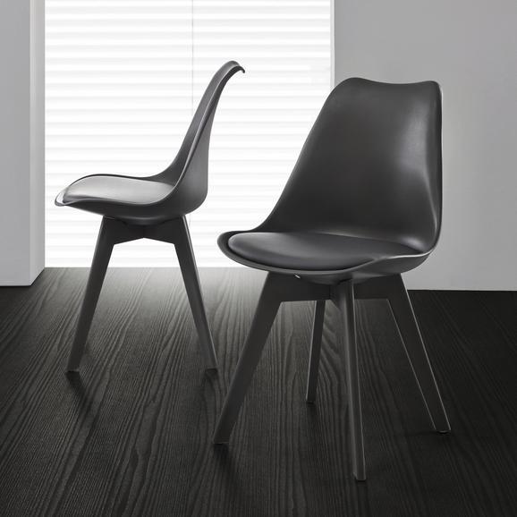 Stuhl Vega - Dunkelgrau, MODERN, Kunststoff (46/83/54cm) - Modern Living