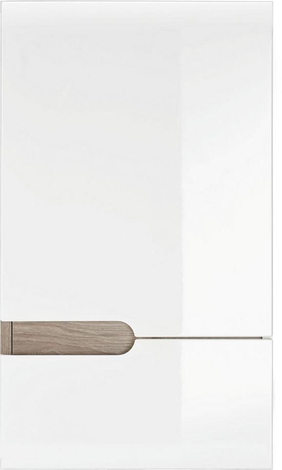Oberschrank Weiß Hochglanz/Eichefarben - MODERN (40 69 22cm) - Mömax modern living