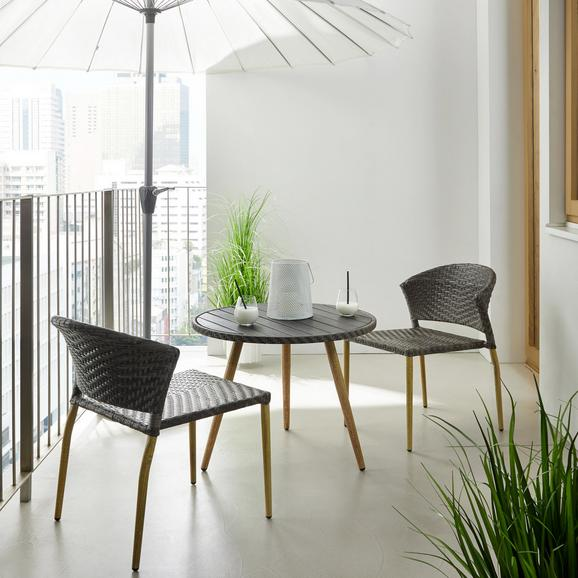 Balkonset Marie - Grau, MODERN, Kunststoff/Metall - Mömax modern living