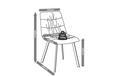 Stuhl Mario - Dunkelgrau/Schwarz, MODERN, Holz/Textil (47/88/59,5cm) - Modern Living