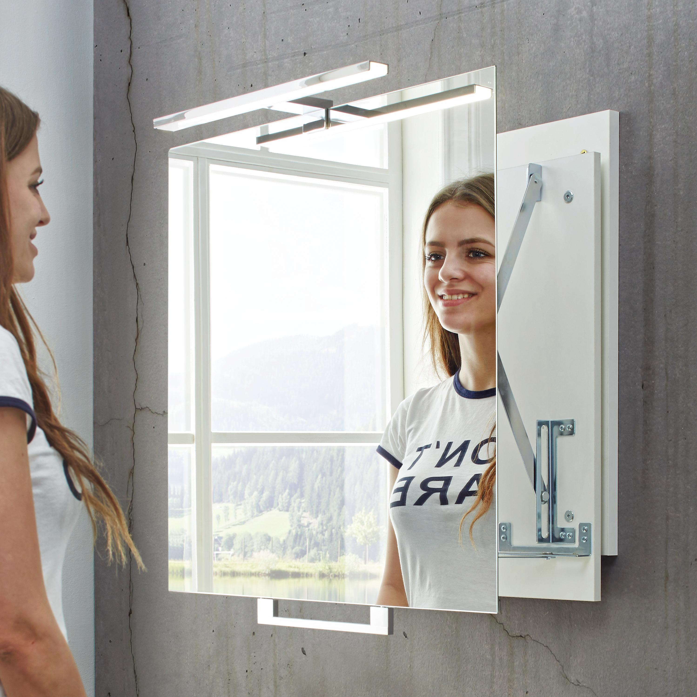 Spiegel ca. 80x60x8cm - Weiß, MODERN, Holzwerkstoff (80/60/8cm) - MÖMAX modern living