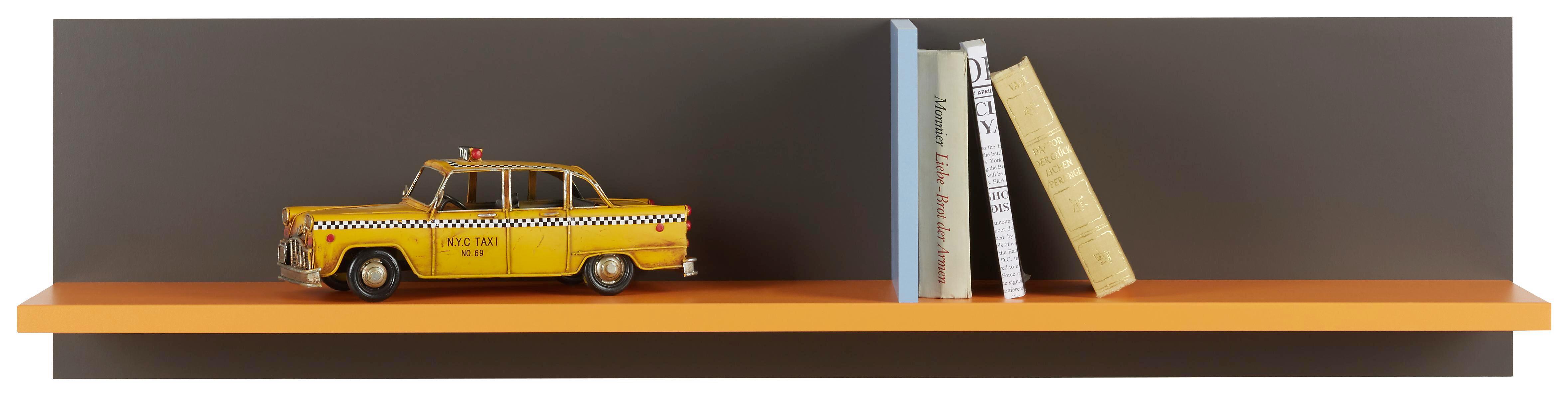 Wandboard in Blau/Grau/Orange - Blau/Orange, MODERN, Holzwerkstoff/Kunststoff (120/30/22cm) - MODERN LIVING
