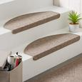 Stufenmatte Seattle Beige - Beige, Basics, Textil (65/28cm) - Modern Living