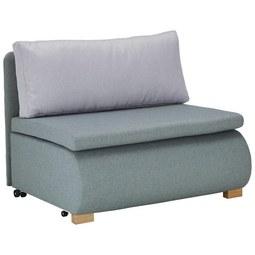 Schlafsessel in Mintgrün mit Rückenkissen - Mintgrün, KONVENTIONELL, Holz/Kunststoff (100/80/100-193cm) - Modern Living