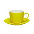 Kaffeetasse mit Untertasse Sandy in Gelb aus Keramik - Gelb, KONVENTIONELL, Keramik (5/6,9cm) - Mömax modern living