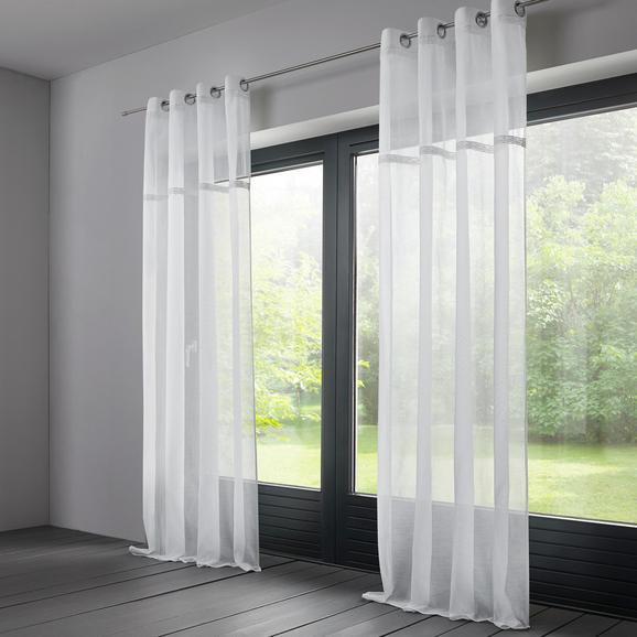 Baumwollvorhang Natalie 140x245cm - Weiß, MODERN, Textil (140/245cm) - MÖMAX modern living