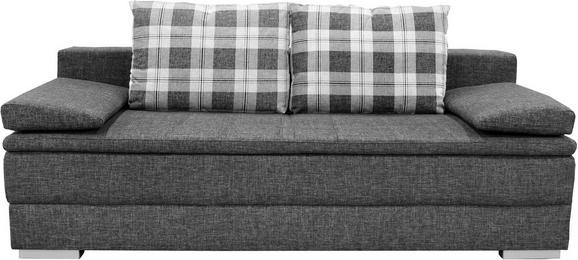 Schlafsofa in Grau mit Bettkasten - Silberfarben/Grau, Holz/Textil (205/72/106cm) - Premium Living