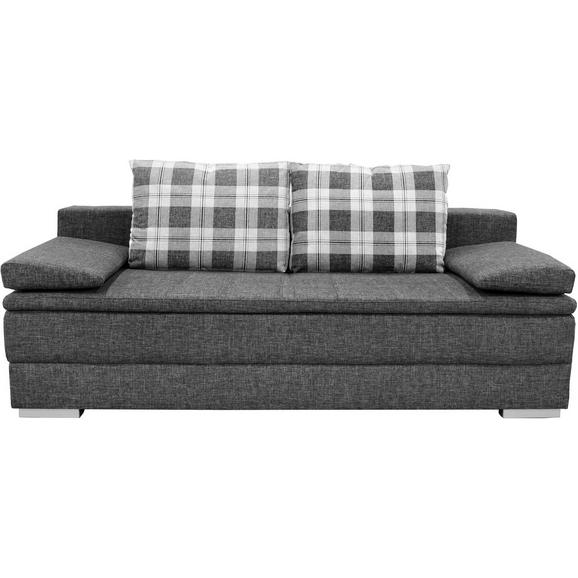 Sofa Relax - siva/boje srebra, tekstil/drvo (205/72/106cm) - Premium Living