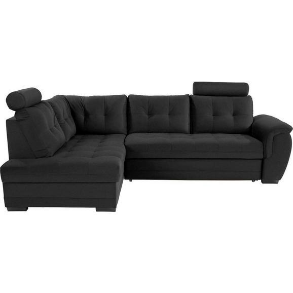 Sedežna Garnitura Falco - temno siva/črna, Konvencionalno, kovina/umetna masa (183/251cm) - Mömax modern living