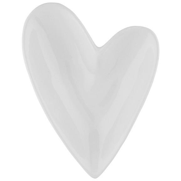 Dekoschale Paula aus Keramik - Weiß, ROMANTIK / LANDHAUS, Keramik (12/9/3cm)