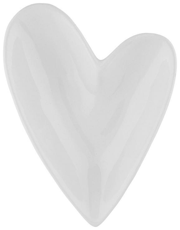 Okrasna Skleda Paula - bela, Romantika, keramika (12/9/3cm)