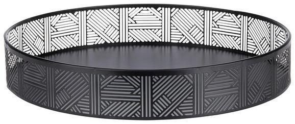 Okrasni Pladenj Kiara - črna, Trendi, kovina (30/5cm) - Mömax modern living