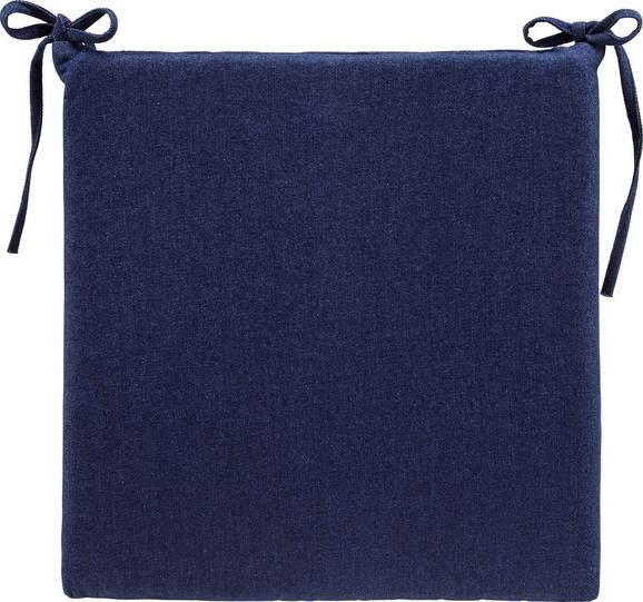 Sitzkissen Tessa 42x40cm - Dunkelblau, MODERN, Textil (42/4/40cm) - MODERN LIVING