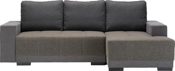 Sedežna Garnitura Lorenzo L - siva/temno rjava, Moderno, tekstil (245/87/136cm) - MODERN LIVING