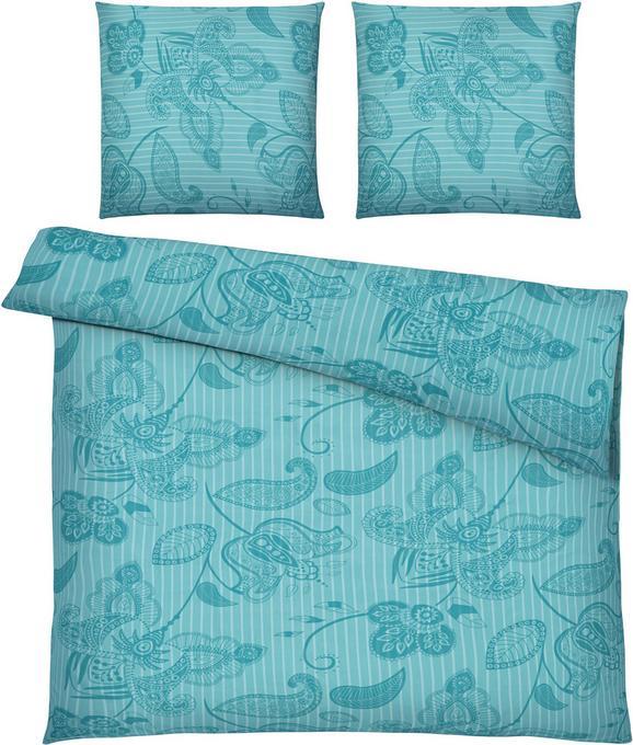 Bettwäsche Marietta XXL, ca. 200x200cm - Türkis, Textil (200/200cm) - Mömax modern living