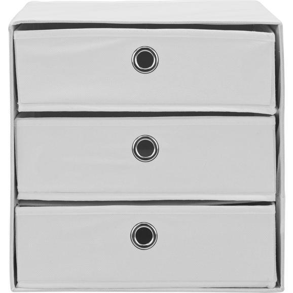 Predalnik Mona V Beli Barvi - bela, Moderno, kovina/karton (32/31,5/32cm) - Mömax modern living