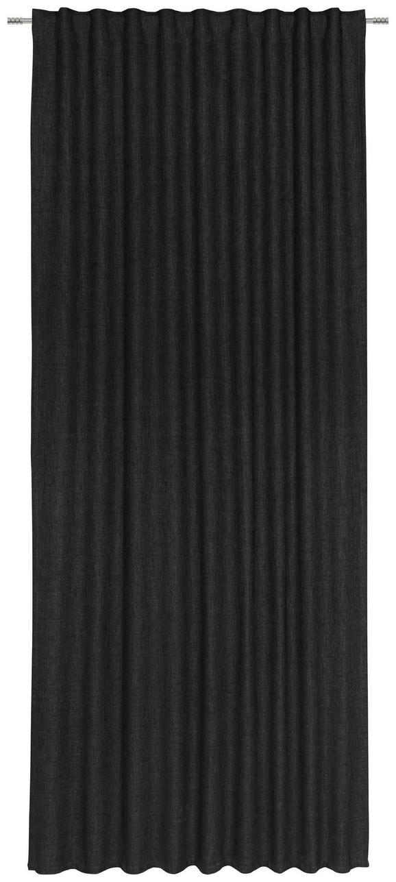 Končana Zavesa Leo -top- - črna, tekstil (135/255cm) - Premium Living