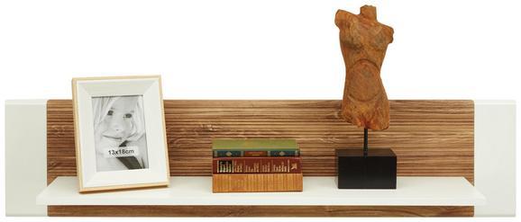 Wandboard Weiß/Eiche - Eichefarben/Weiß, MODERN, Holzwerkstoff (120/28/24cm) - Modern Living