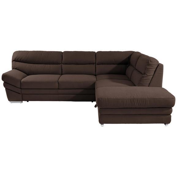 Sedežna Garnitura Victory - krom/rjava, Konvencionalno, kovina/tekstil (264/217cm) - Premium Living