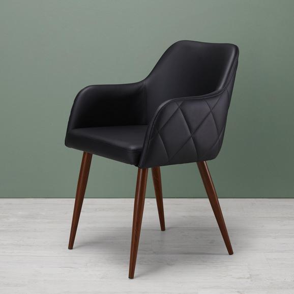 Stuhl Andre - Anthrazit/Dunkelbraun, MODERN, Textil/Metall (60/84/57cm) - Modern Living